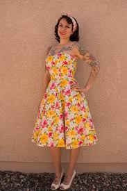 sun dress gertie s new for better sewing yellow poplin tropical sundress