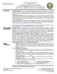 Law Enforcement Sample Resume by Sample Resume For Correctional Officer Free Resume Example And