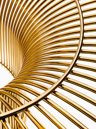 50th anniversary gold plate platner gold inspiration knoll