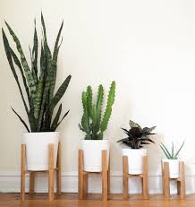 modern planters and pots mid century modern plant stand wooden plant stand indoor