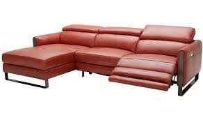 Motion Sectional Sofa Premium Italian Leather Motion Sectional Sofa In Pumpkin