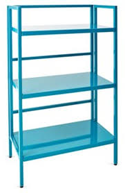 furniture cool blue bookshelves with folding study desk as a