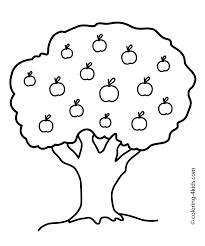 Halloween Themed Coloring Pages by Nature Apple Tree Coloring Page For Kids Printable Free