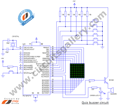 electronic quiz buzzer circuit diagram using pic microcontroller