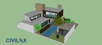 sketchup house model sketchup model of modern 3d house
