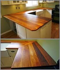 Wooden Kitchen Countertops by Wood Kitchen Countertops Diy Reclaimed Wood Countertop After