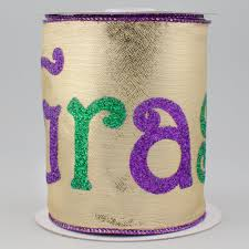 mardi gras ribbon 4 gold lamé mardi gras ribbon 10 yards rg1853