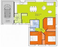 plan maison 100m2 3 chambres maison de plain pied 5 pices 3 chambres cp13 de maison 3 plan maison