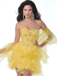 strapless beaded organza ruffle short prom dress sung boutique l a