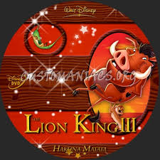 lion king 3 hakuna matata dvd label dvd covers u0026 labels