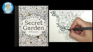 secret garden colouring book postcards secret garden by johanna basford coloring book postcards
