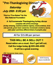 thousand oaks elks lodge presents pre thanksgiving dinner