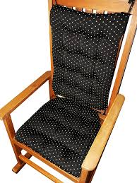 Chair Cushions Kohls Amazon Com Rocking Chair Cushions Tiffanie Onyx Black Brocade