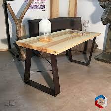 cuisine bois acier table cuisine bois brut free meubles en bois massif fossilis de