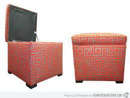Orange Storage Ottoman Store Hidden Treasures In 20 Cube Storage Ottomans Home Design Lover