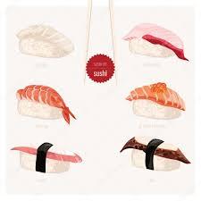 jeu de cuisine sushi jeu de sushi cuisine japonaise image vectorielle ermine 90060766
