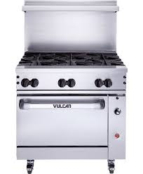 36 u201d 6 burner gas range u2013 standard or convection oven vulcan