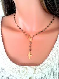gold cross rosary necklace images 57 real rosary necklace gold cross garnet rosary necklace womens jpg