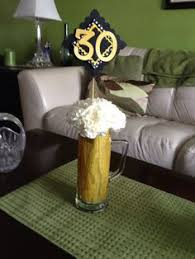 Beer Centerpieces Ideas by 50th Bday Beer Mug Centerpiece My Diy P Pinterest
