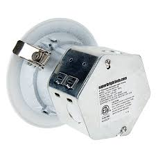 j box led lights 4 recessed led downlight w built in junction box and baffle trim