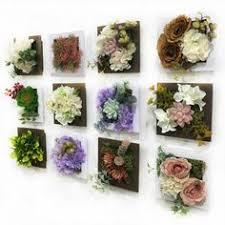 Artificial Plant Decoration Home 3d Artificial Plant Simulation Flower Frame Wall Decor Home Garden