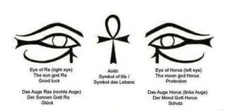 minimalist symbols ra luck ankh and