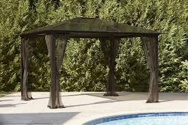 Patio Gazebo Lowes by Essential Garden Gazebo Patio Build Plans Essential Garden