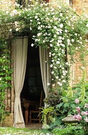 Rose Trellis Plans Idea For French Doors On Side Of House Leading To Courtyard