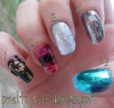 prettyfulz nail foil swatches from dollar nail art