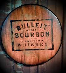 bourbon sign bulleit bourbon whiskey barrel bar basement saloon sign