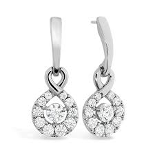 diamond drop earrings optima diamond drop earrings
