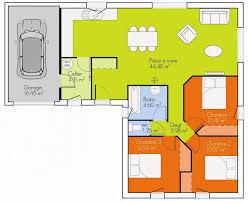 plan de maison plain pied 3 chambres avec garage plan maison plain pied 2 chambres avec suite parentale 90m2