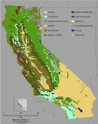 California vegetaion images Map of the distribution of vegetation types and land cover in png