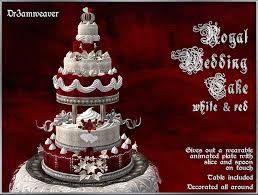 second life marketplace dr3amweaver royal wedding cake red