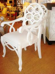 Palmer Weiss Design Idea White Lacquer Dining Chairs Cococozy