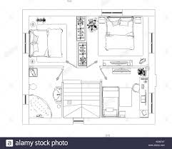 drawing room black and white stock photos images alamy floor plan sketch stock image