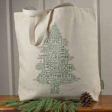 oregon word tree large tote bag bay root