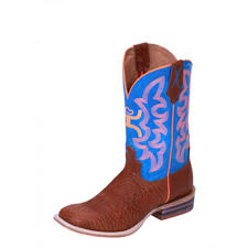 twisted x s boots twisted x youth hooey cowboy boots cognac bull hide with neon blue