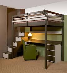 bureau 2 places lit mezzanine 2 places but lit x cm h cm pin blanc fly