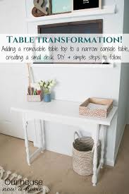 Diy Small Desk How To Turn A Narrow Table Into A Desk Diy Desk Upcycle Our