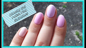 bluesky gel polish pale pink swatches youtube