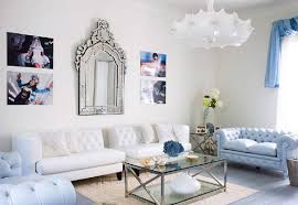 Blue Living Rooms by Decoration Blue And White Living Room Design Framed Wall