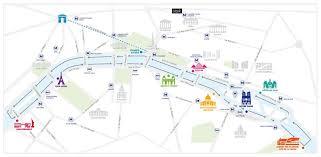 Seine River Map Croisière à Arrêts Multiples Sur La Seine à Paris Rail Europe