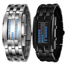 mens bracelet digital images 2pc luxury men 39 s stainless steel date digital led bracelet sport jpg