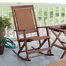 manly willow bay fing resin wicker rocking chair walnut at