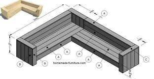 Bench Construction Plans Corner Bench Woodworking Instructions Free Lounge Furniture