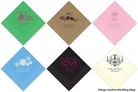 printed wedding napkins wedding giveaway free personalized napkins things festive