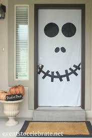 homemade halloween door decorations