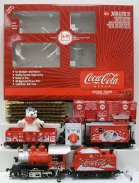 buy lgb 72510 g scale coca cola red trunk christmas train set ln