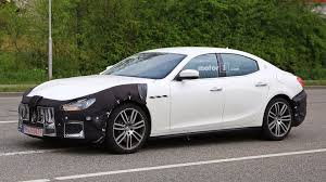 maserati super sport maserati ghibli spy photos show car is happy to be out of snow